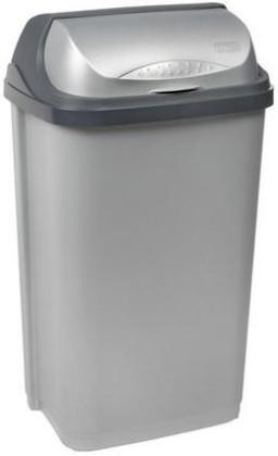 Koš na odpadky Rolltop, 50l (stříbrná)