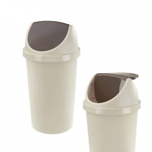Koš na odpadky Swing, 25l (bílá, hnědá)