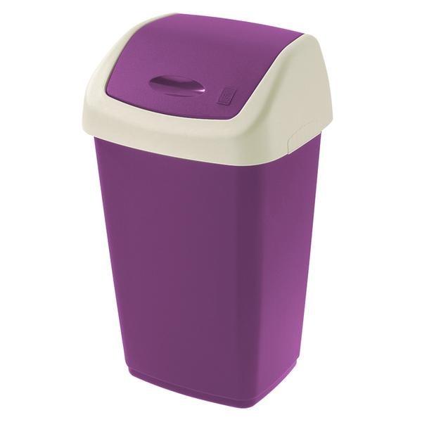 Koš na odpadky Swing, 25l (fialová, bílá)
