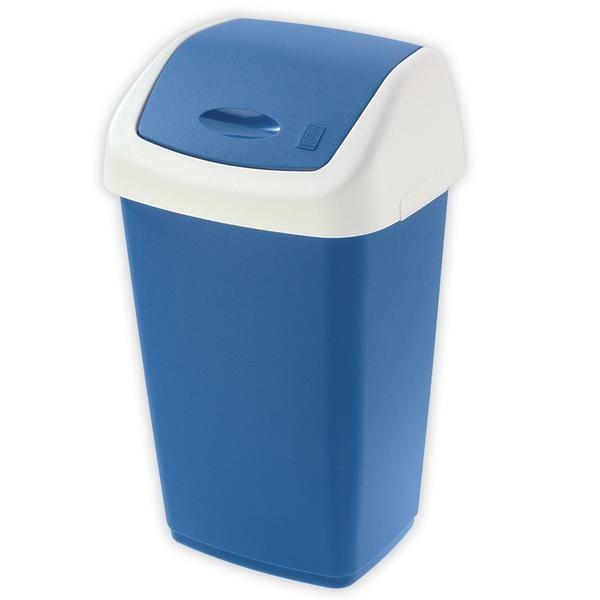 Koš na odpadky Swing, 25l (modrá, bílá)