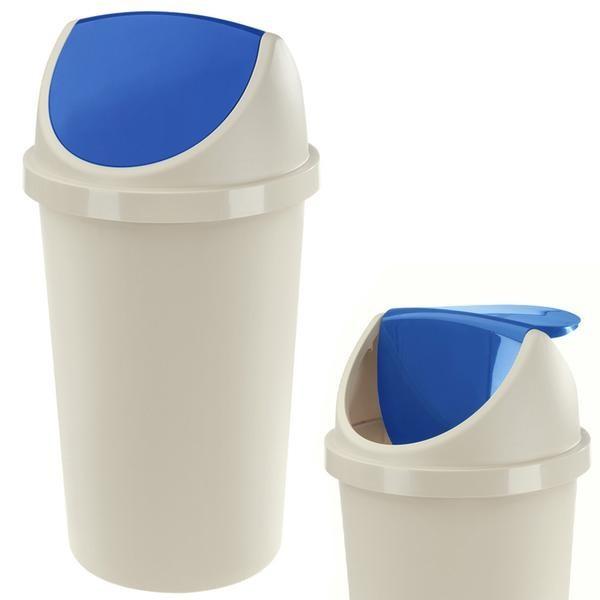 Koš na odpadky Swing, 45l (modrá, bílá)