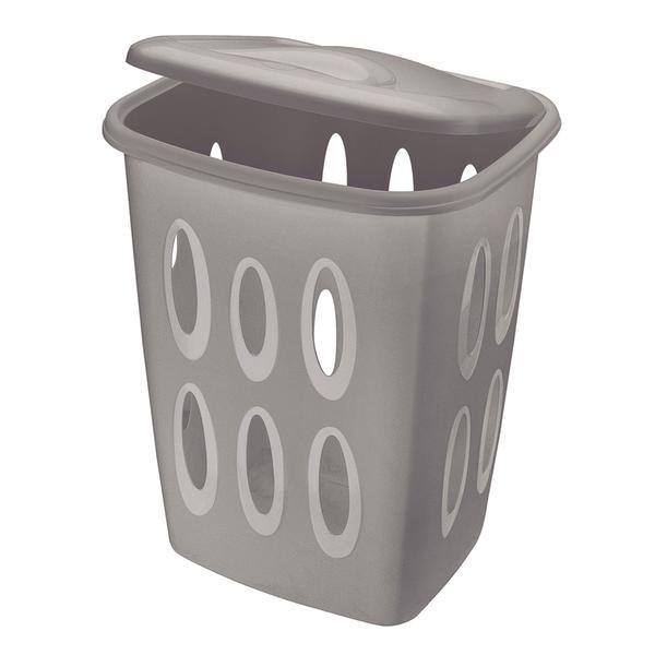 Koš na špinavé prádlo, 45l, 41x33,2x54,9 (šedý)