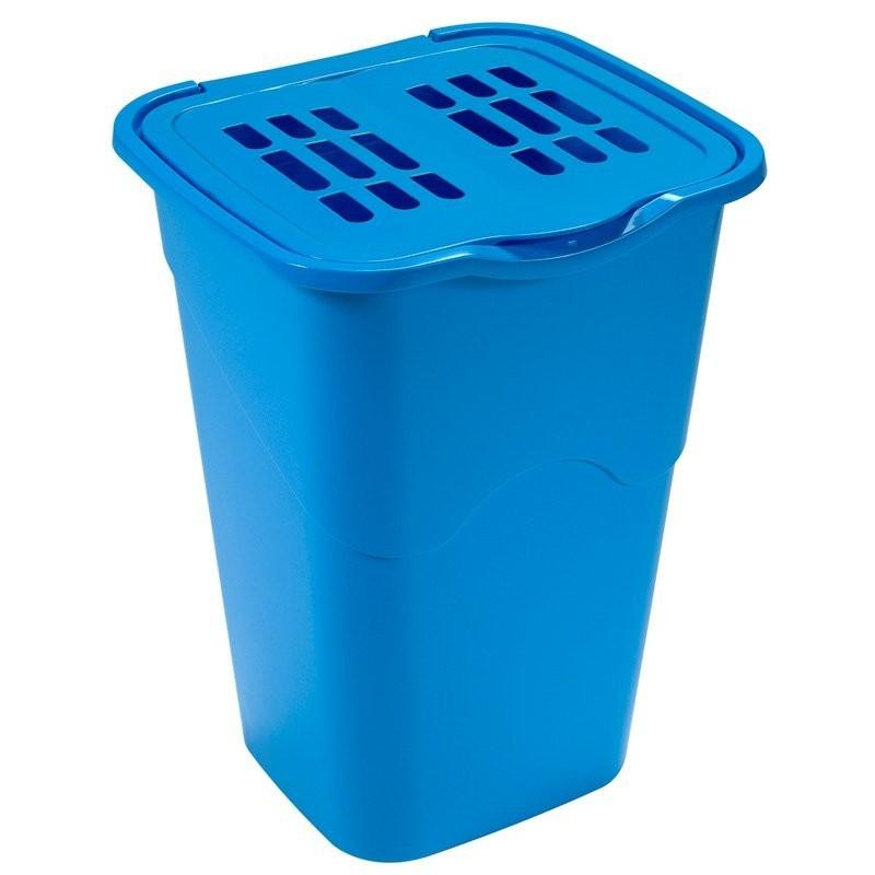 Koš na špinavé prádlo 50l, modrá