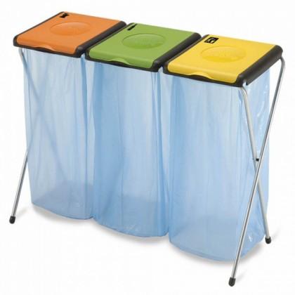 Koš na tříděný odpad Nature 3 (oranžová, zelená, žlutá)