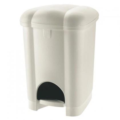 Koš odpadkový, nášlapný, 30l  (bílá)