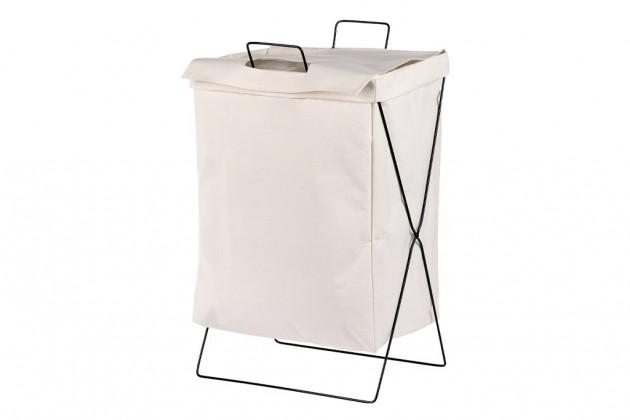 Košíky Plátěný koš na prádlo (bílá)