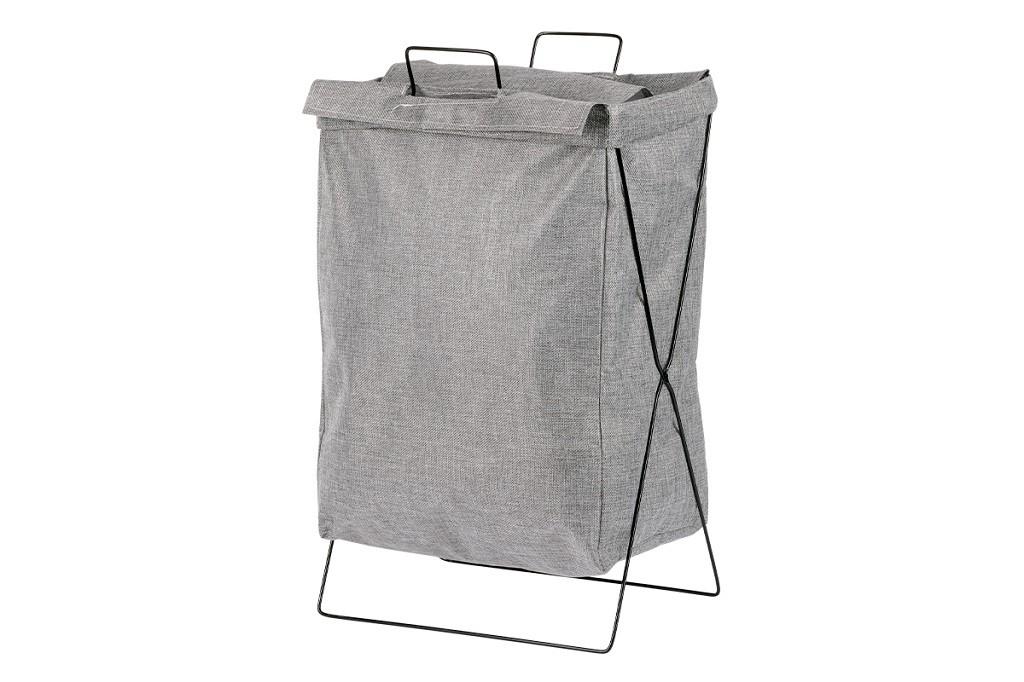 Košíky Plátěný koš na prádlo (tmavě šedá)