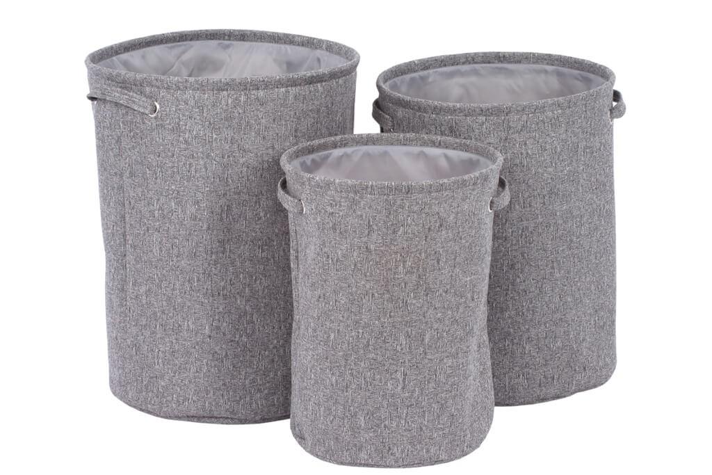 Košíky Sada košů na prádlo (3 kusy, šedá)