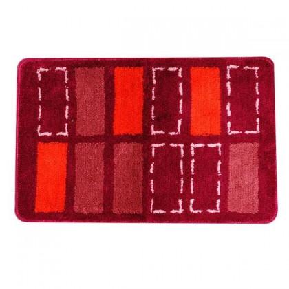 Koupelnová předložka, 50x80 cm (červená)
