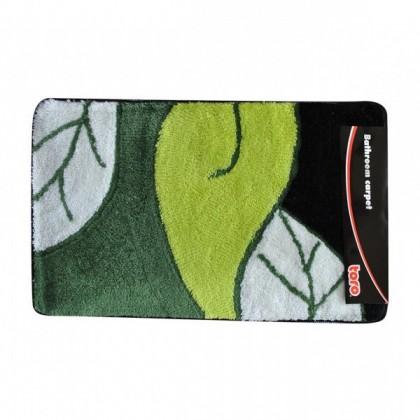 Koupelnová předložka, 50x80 cm (motiv list, zelená)