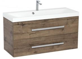 Koupelnová skříňka s umyvadlem Tiera závěsná (100x53x40 cm, dub)