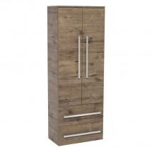 Koupelnová skříňka Tiera závěsná (60x163x33 cm, dub)