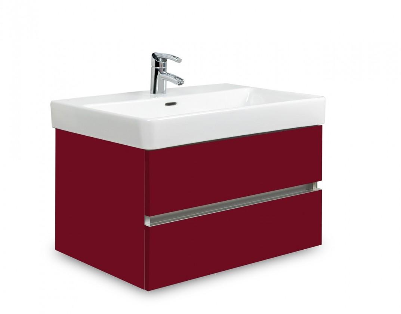 Koupelny ZLEVNĚNO Brisbane - skříň s umyvadlem Laufen Pro S 65cm (bordó)