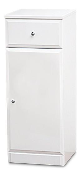 Koupelny ZLEVNĚNO Koupelnová skříňka SD 302 volně stojící (bílá, lesk)