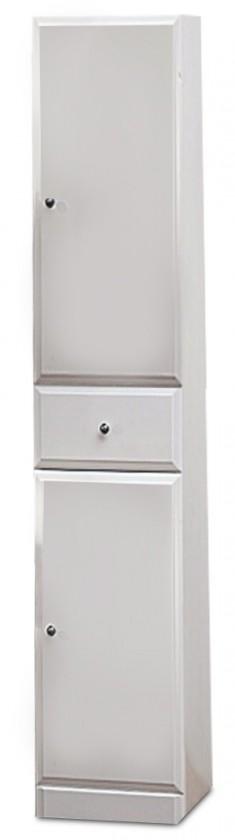 Koupelny ZLEVNĚNO Koupelnová skříňka SD 304 vysoká volně stojící (bílá, lesk)