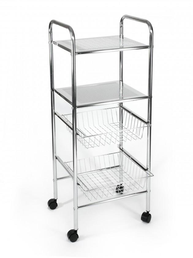 Koupelny ZLEVNĚNO Koupelnový vozík, 98 cm (chrom)