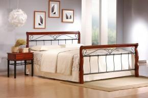 Kovová postel Verona 180x200, třešeň, černá,vč.roštu,bez matrace