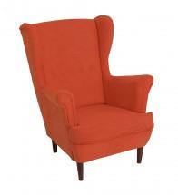 Křeslo ušák Flo oranžová