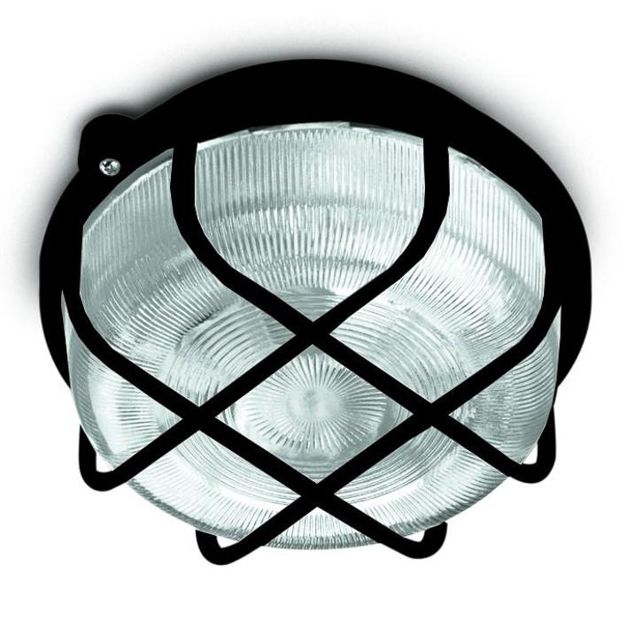 Kruh - Stropní svítidlo, E27, 100W (černá)