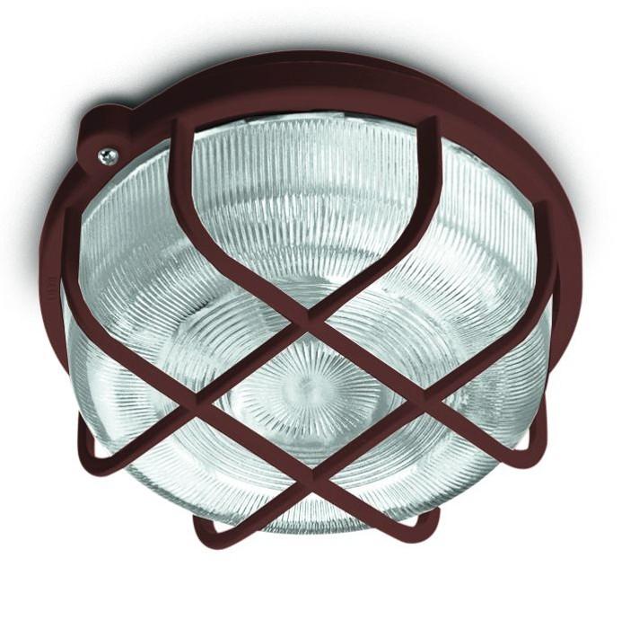 Kruh - Stropní svítidlo, E27, 100W (hnědá)