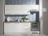 Kuchyně Carla - 240 cm (bílá/dub halifax)