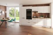Kuchyně Carlotta 300 cm (bílá lesk/dub wotan)