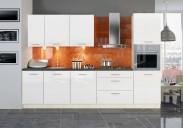 Kuchyně Emilia - 300 cm (bílá/černá)