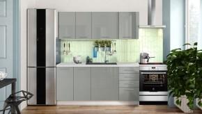 Kuchyně Emilia Lux 180 cm (šedá lesk)