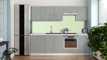Kuchyně Emilia Lux - 240 cm (šedá vysoký lesk) - II.jakost