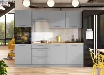 Kuchyně Emilia mat 240 cm (šedá mat)