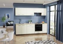 Kuchyně Evelin 240 cm (magnolie, ořech)