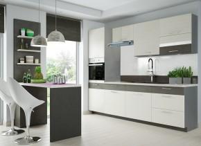 Kuchyně Fresh - 240 cm (šedá/bělená borovice)