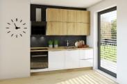 Kuchyně Giulia 240 cm (bílá lesk/dub arlington)