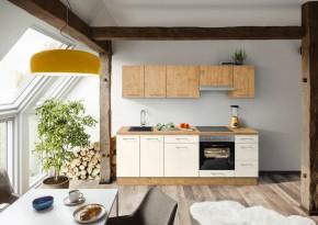 Kuchyně Heidi 240 cm (magnolie, dub)