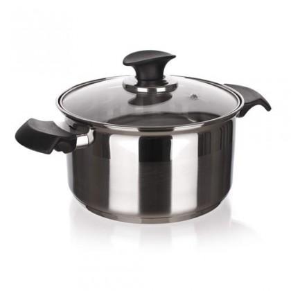 Kuchyně, jídelny Akcent New Line - Hrnec s poklicí, 2,65L (stříbrná)