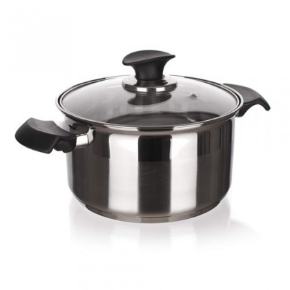 Kuchyně, jídelny Akcent New Line - Hrnec s poklicí, 3,60L (stříbrná)