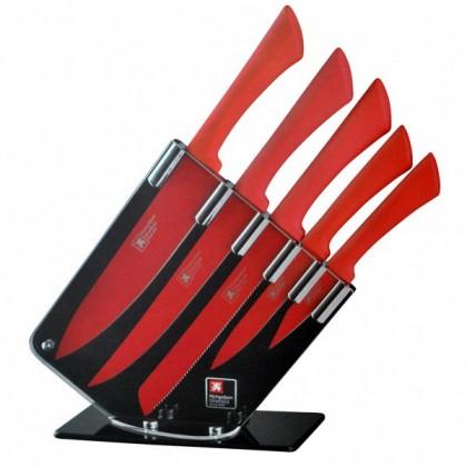 Kuchyně, jídelny Blok s noži 5ks, Love colours (červená)
