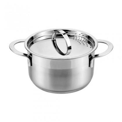 Kuchyně, jídelny Cassida - Hrnec s poklicí, 20x11,5cm, 3,6L (stříbrná)