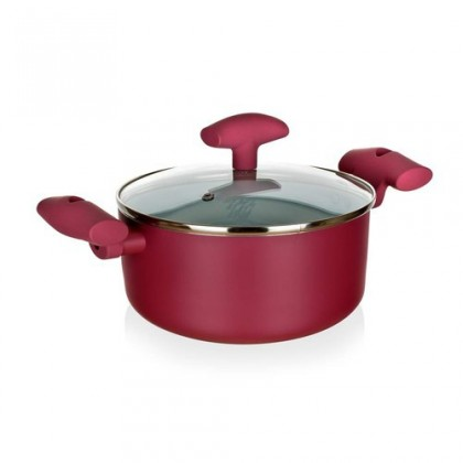 Kuchyně, jídelny Inspira - Kastrol, hliník, keramika, 20x9cm (červená, bílá)