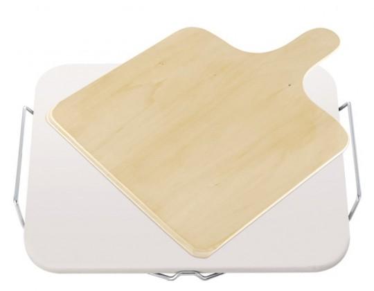 Kuchyně, jídelny Kámen na pizzu, hranatý, dřevěné prkénko (béžová)