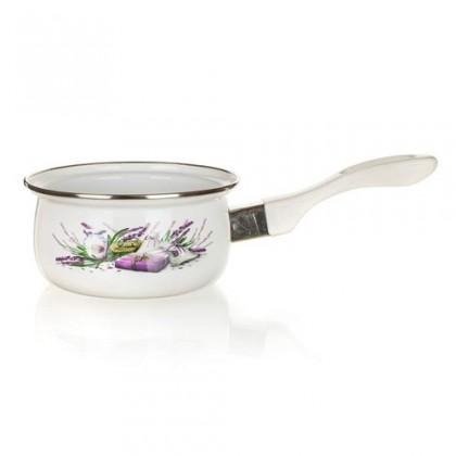 Kuchyně, jídelny Lavender - Smaltovaný rendlík, 14cm (bílá, fialová)