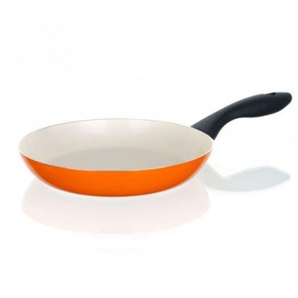 Kuchyně, jídelny Natura Ceramia - Pánev, 24cm (oranžová, bílá)