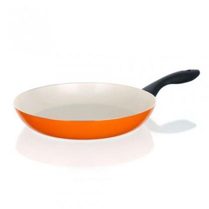 Kuchyně, jídelny Natura Ceramia - Pánev, 28cm (oranžová, bílá)