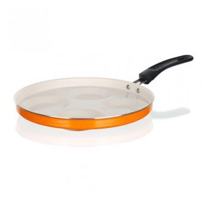 Kuchyně, jídelny Natura Ceramia - Pánev na lívance, 25cm (oranžová, bílá)