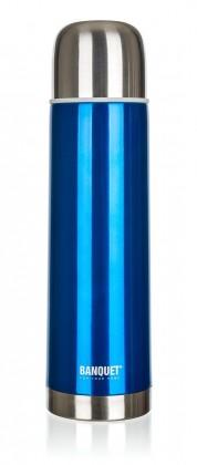 Kuchyně, jídelny Nerezová termoska 1l, modrá