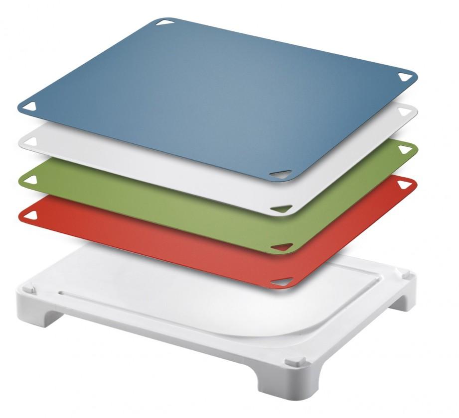 Kuchyně, jídelny Prkénko na krájení Varioboard (červená, modrá, zelená, bílá)