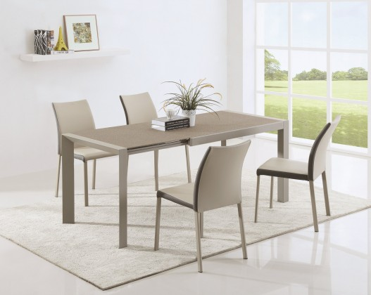 Kuchyně, jídelny ZLEVNĚNO Arabis 2 - Jídelní stůl 120-182x80 cm (světle hnědá, béžová)