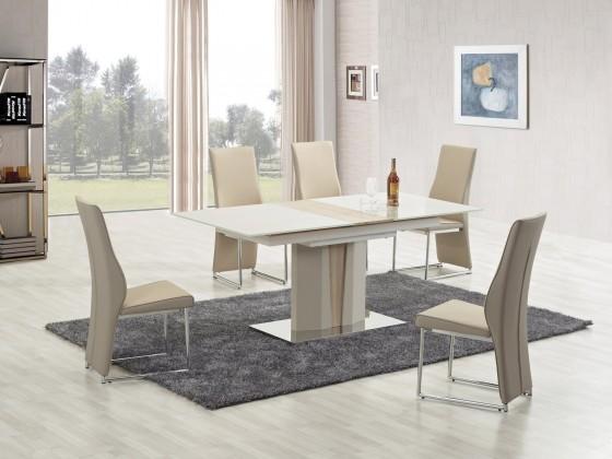 Kuchyně, jídelny ZLEVNĚNO Cameron - Jídelní stůl, 150-180x90 cm (champagne, dub sonoma)