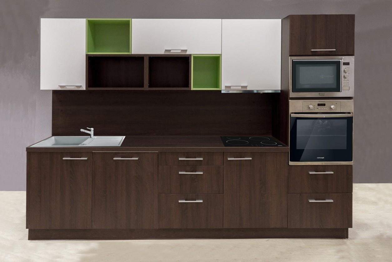 Kuchyně, jídelny ZLEVNĚNO Domino - 952756 (dub bardolino schoko,bílá,oliva)