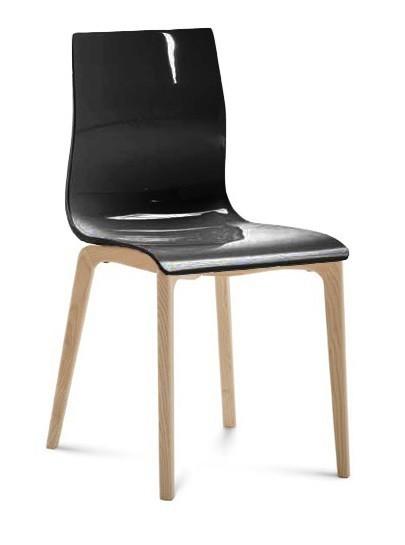 Kuchyně, jídelny ZLEVNĚNO Gel-l - Jídelní židle (černá lesk)